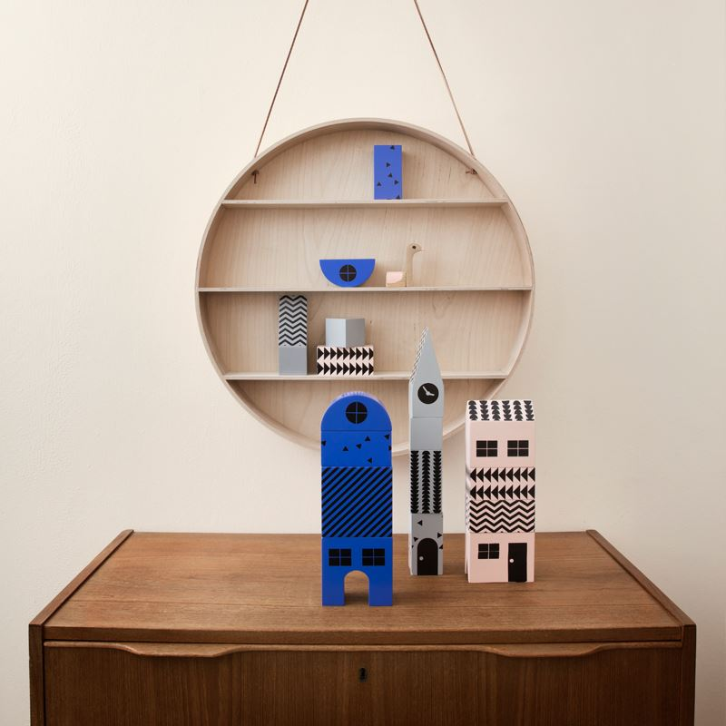 Shelving and blocks from Ferm Living