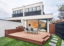 Simple, small rear courtyard design