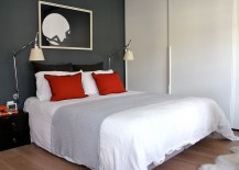Simple-yet-elegant-use-of-red-accent-pillows-in-the-small-bedroom-with-gray-accent-wall-217x155