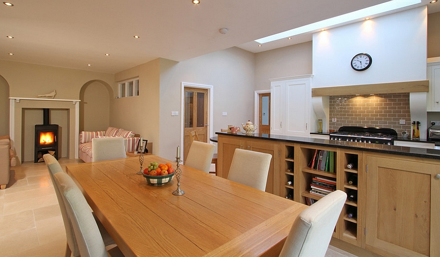 ... Skylight Above The Kitchen Also Adds To The Appeal Of The Dining Space [ Design: