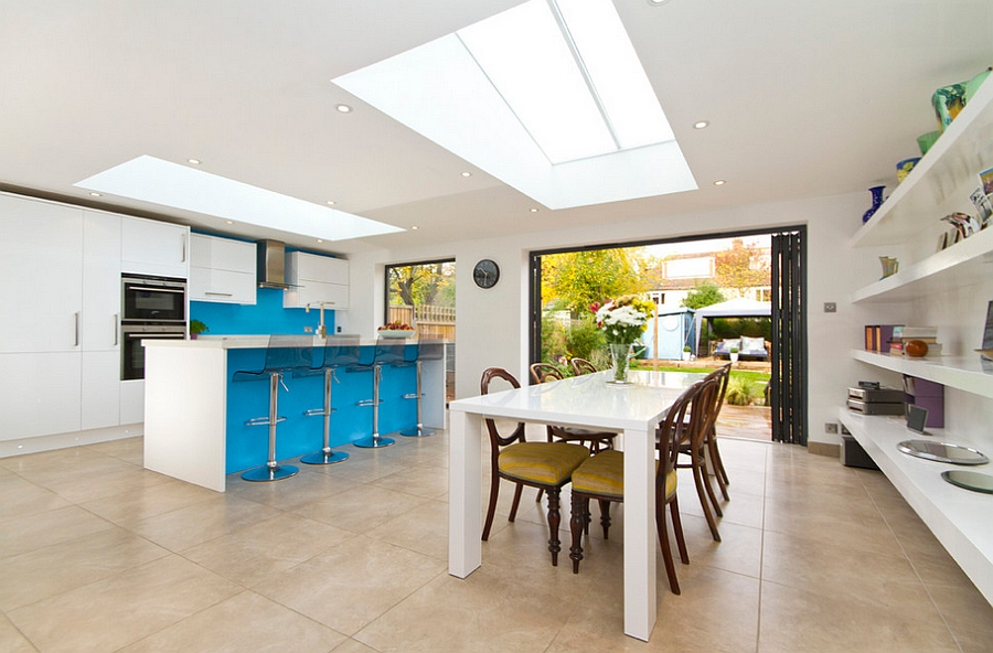 Skylights give the room a cheerful, airy ambiance [Photography: Chris Snook]