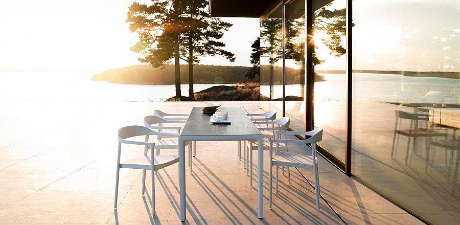 Sleek Illum Outdoor Table with classic Scandinavian style