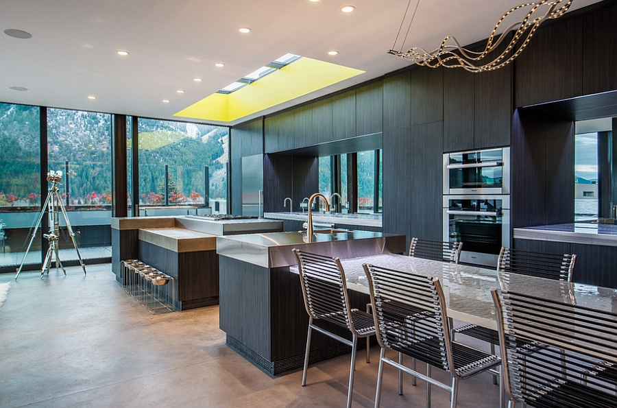 Sleek contemporary kitchen design with a skylight [Design: Kearns, McGinnis and Vandenberg]