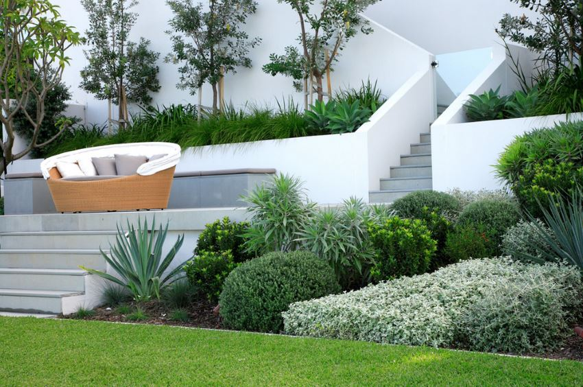 Sleek outdoor landscaping by Secret Gardens