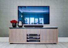 Sleek wooden TV Cabinet tucks away the entertainment center