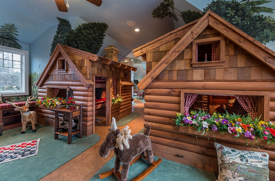Kids Bedroom And Playroom rustic kids' bedrooms: 20 creative & cozy design ideas