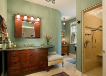 Smart lighting elevates the appeal of the traditional bathroom