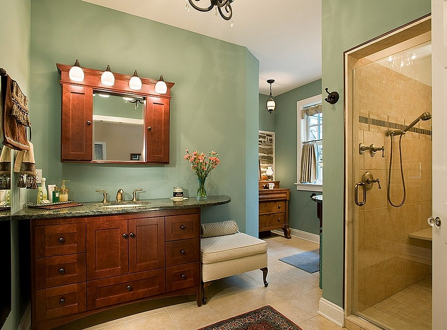 Smart lighting elevates the appeal of the traditional bathroom [Design: Karen Beam Architect LLC]