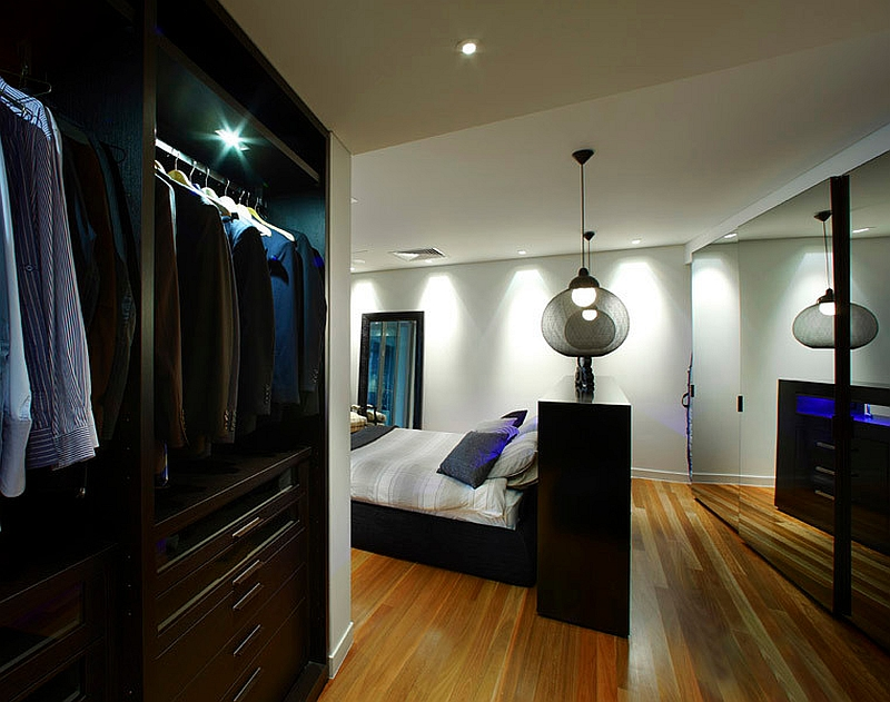 Smart pendants used as bedside lighting [Design: OJ Kitchens]