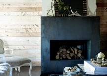 Stack those logs inside the firebox in warmer months