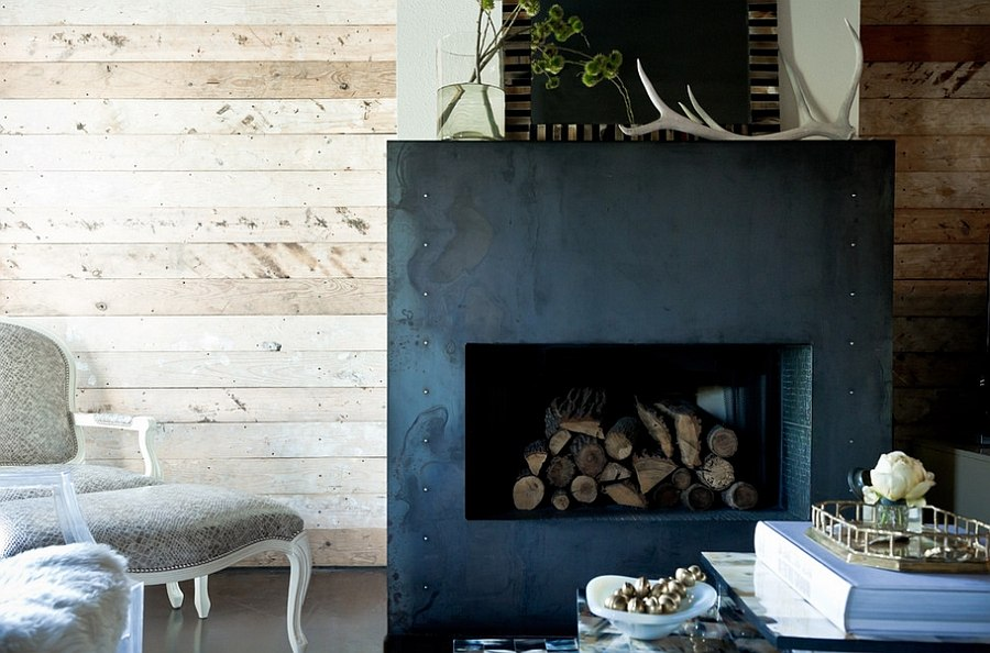 Stack those logs inside the firebox in warmer months [Design: Jamie Laubhan-Oliver]