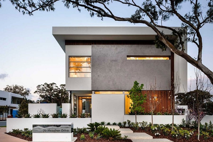 Street facade of the contemporary Appealathon House in Perth