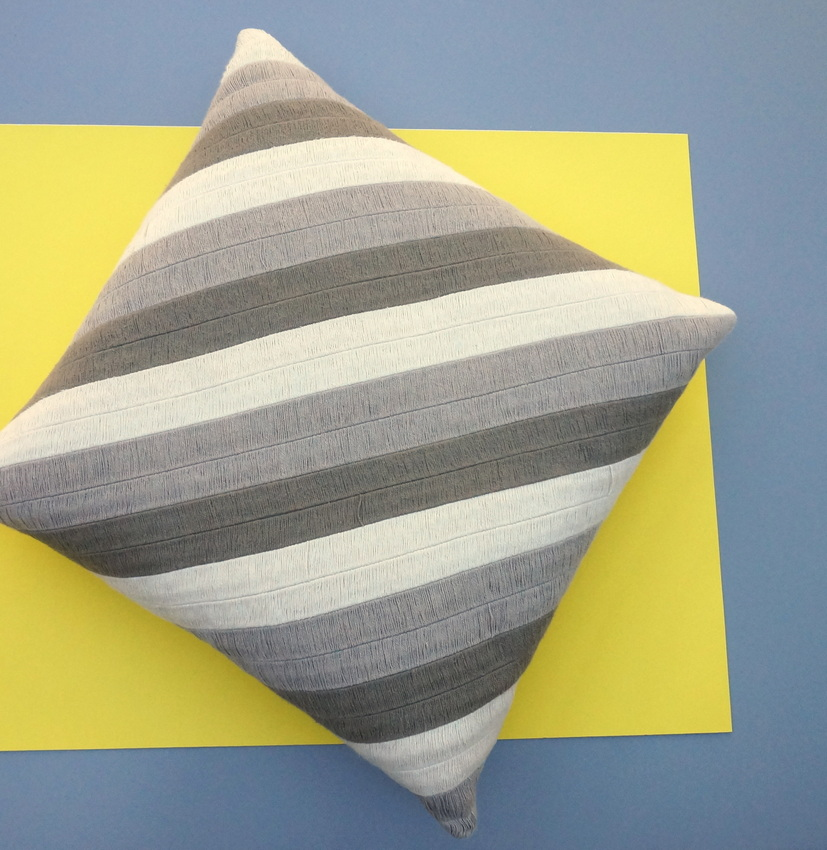 Striped pillow from Crate Barrel1 A 10 Minute Step Stool Makeover!