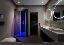 Stunning-master-bath-design-in-gray-with-gorgeous-lighting-217x155