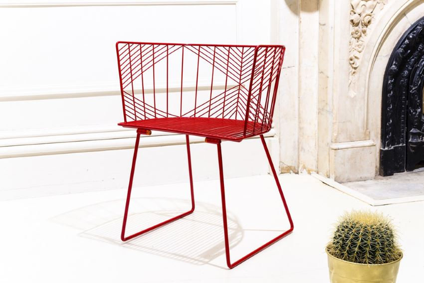 The Captain Chair in red from Bend Goods