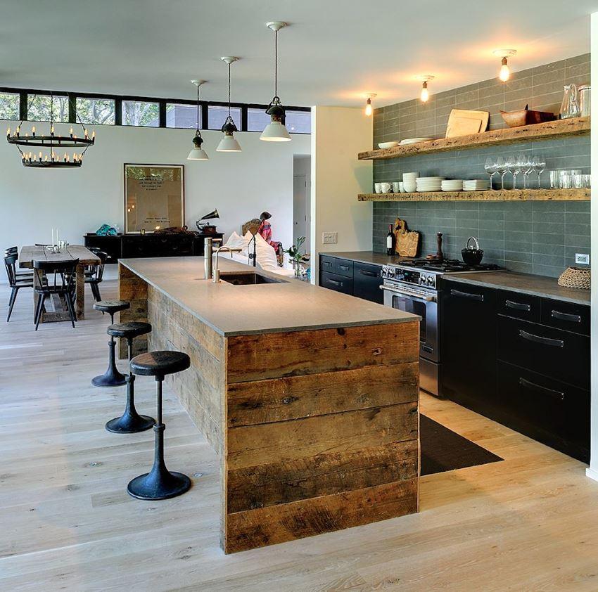 The kitchen of Athena Calderone's Amagansett home