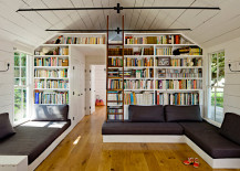 Tiny House Built-In Bookcase