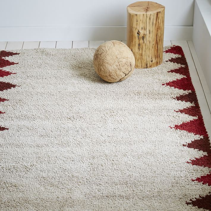 Triangle-motif shag rug from West Elm