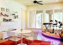 Turn the family room into a fun hub with a simple stage