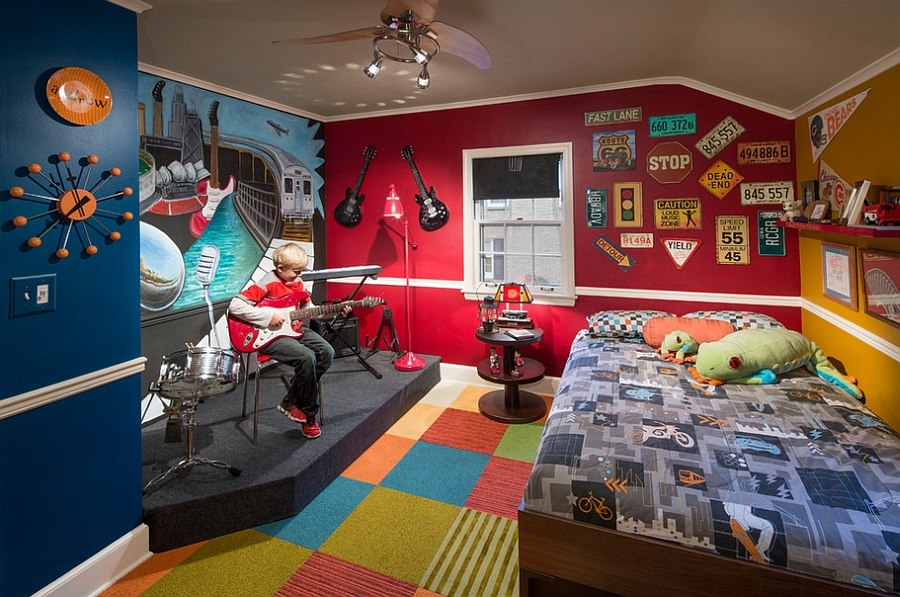 Turn the kids' bedroom into an inspirational stage! [Design: KannCept Design]