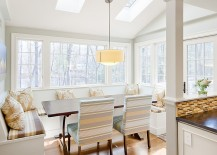Turn the kitchen banquette into a sensational dining area with natural light