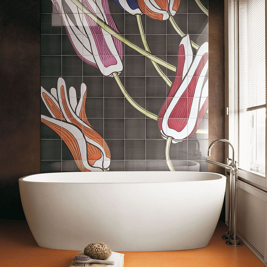 Turn to decorative ceramic panels for a truly unique bathroom [From: Ceramica Bardelli]