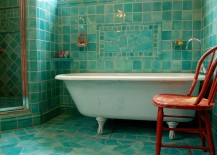 Turquoise-and-orange-make-a-fun-combination-in-the-bathroom-217x155