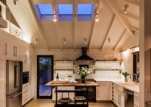 Understated skylights bring in just the right amount of light