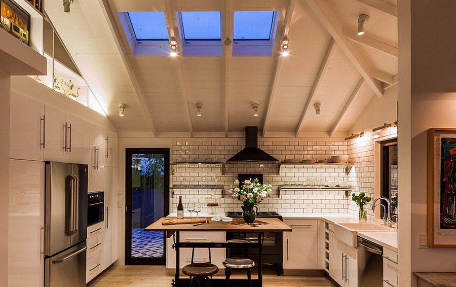 Understated skylights bring in just the right amount of light [Design: Lori Smyth Design]