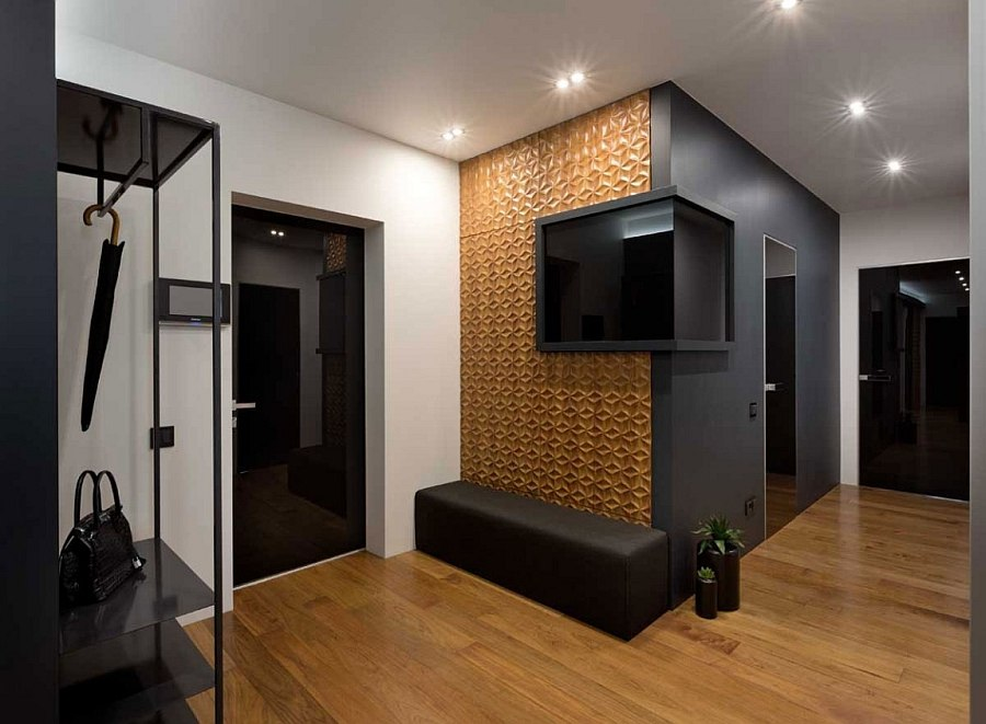 Unique entryway design of the Graphite Penthouse