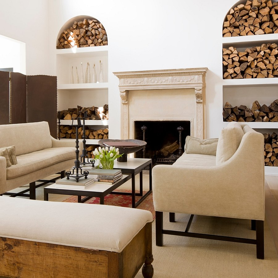 Storage Living Room The Artful Woodpile 30 Fabulous Firewood Storage Ideas