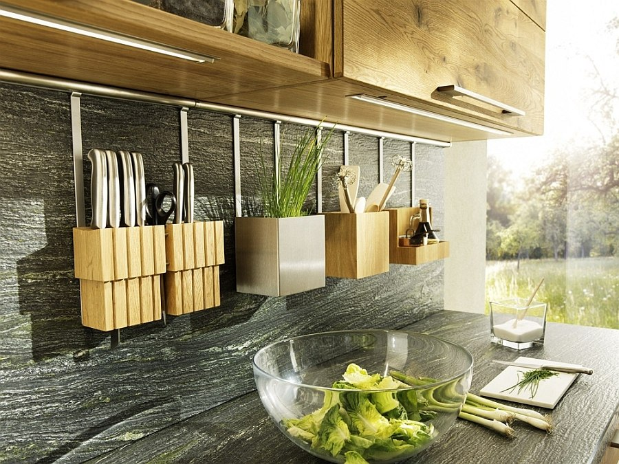 Versatile worktops, counters and prep zones of the lovely Loft Kitchen