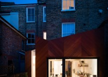 Victorian London home with a contemporary extension in cedra and glass