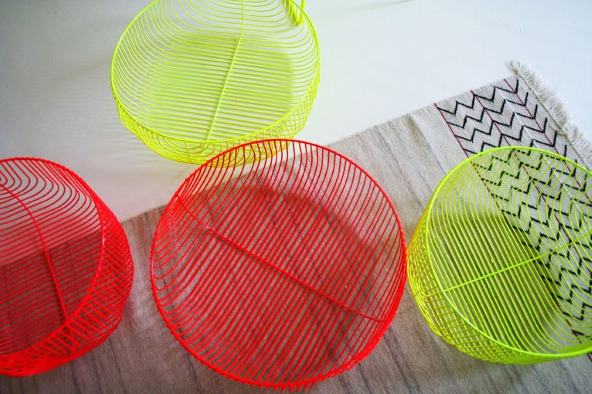 Vivid Bend baskets provide storage and style