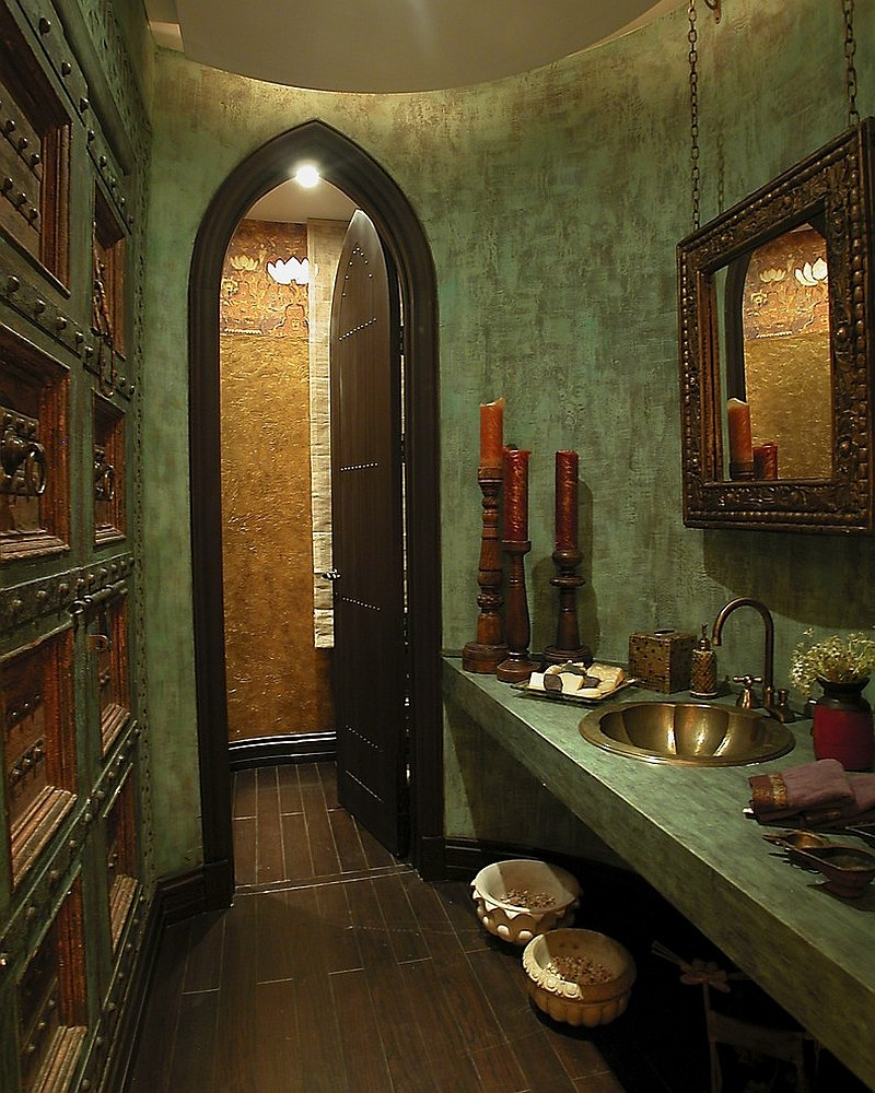 20 refreshing bathrooms with a splash of green for Bathroom decor green walls