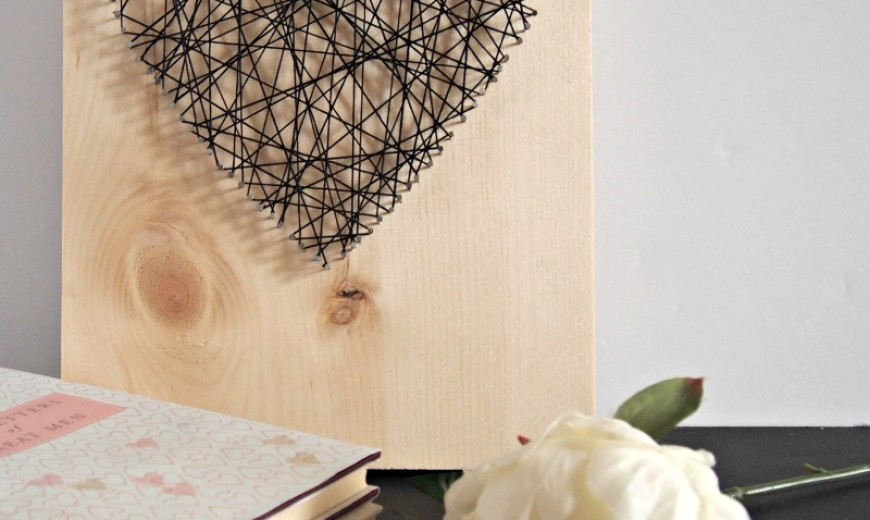 DIY Heart String Art That's Not Cheesy!