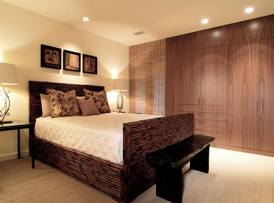 A bamboo bed that promises to stand the test of time! [Design: Joel Kelly Design]