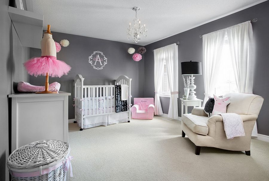 A nursery backdrop that allows the room to grow with your little one [From: Lisa Petrole Photography]