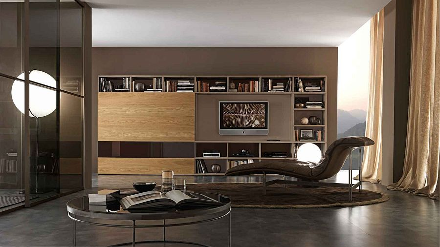 modern living room furniture giessegi modular | 15 Modular Bookcase Compositions that Offer Design Flexibility