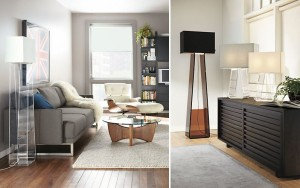 Acrylic floor lamp from Room & Board
