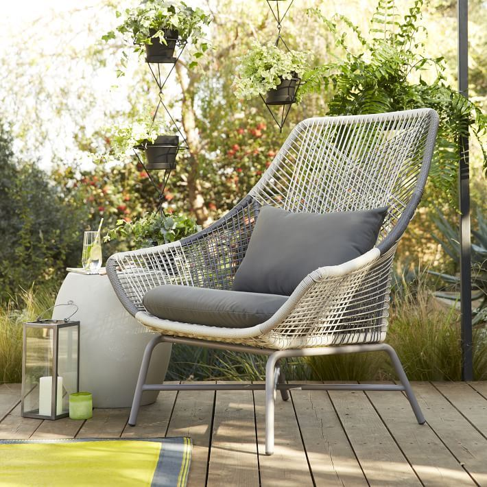 All-weather cord lounge chair from West Elm
