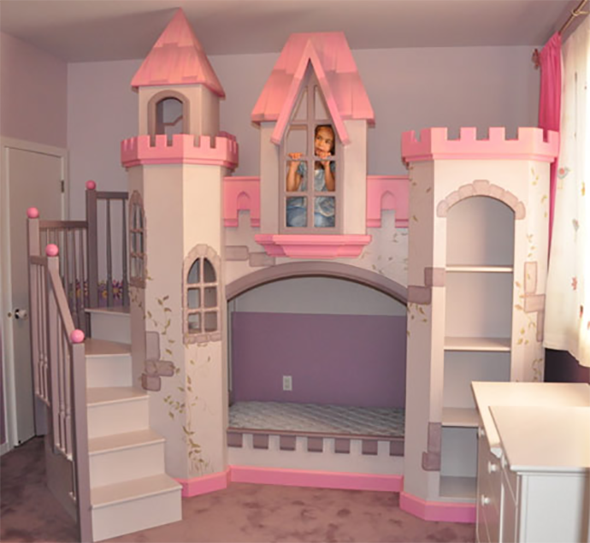 bed featuring its own dance stage! Each fanciful playset has a loft ...