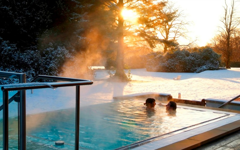 Armathwaite Hall's outdoor hot tub
