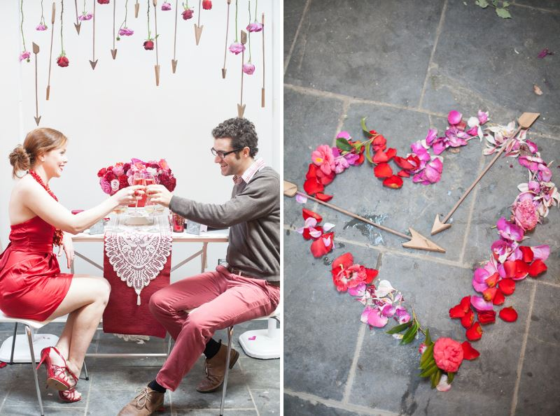 Arrows and flowers make a Valentine's Day statement