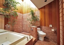 Asian style bathroom with a flood of natural light