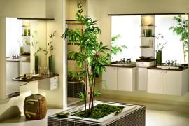 Bamboo Bathroom  12 Creative Ways to Use Plants in The Bathroom Bamboo Bathroom 270x180