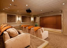 Basement remodel turns the space into a lavish home theater
