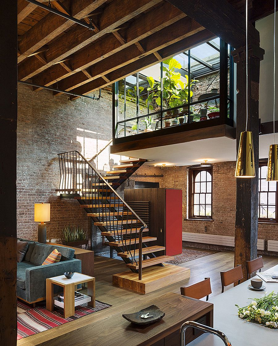 Old caviar warehouse converted into a sensational nyc loft for Interieur loft new york