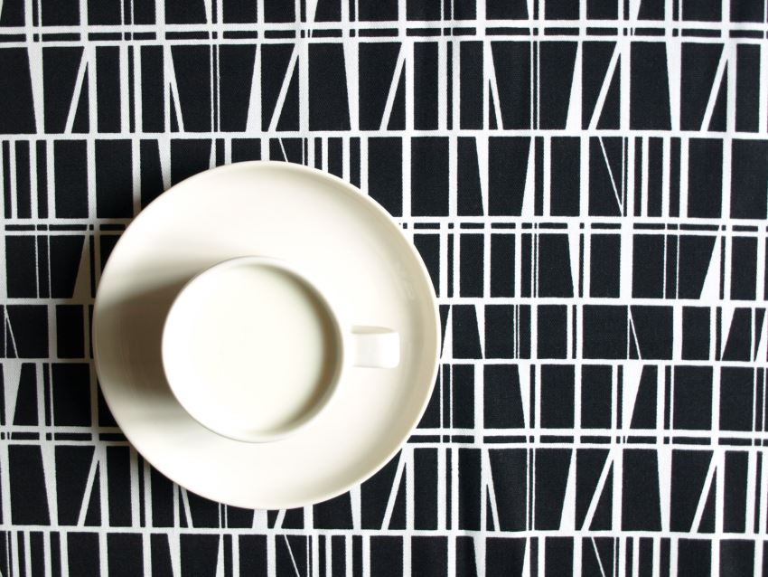 View In Gallery Black And White Abstract Tablecloth From Dreamzzzzz