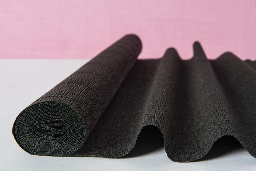 Black crepe paper table runner from Taara Bazaar